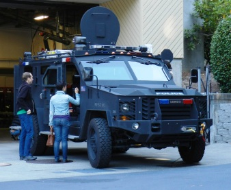 Bellevue Police Department's Bearcat. (c) 2012 LR Swenson
