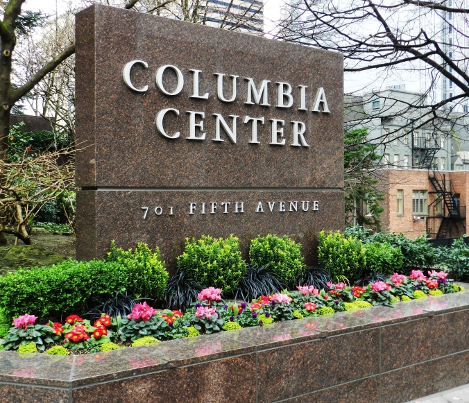 SSC 2013 Columbia Tower sign