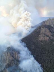 Smoke column of fires taken on June 16. (Courtesy: Inciweb)