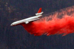 A Very Large Air Tanker Drops Retardant On The Aspen Fire On July 30, 2013.