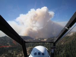 U.S. Forest Service AH-1 Cobra FireWatch Helicopter Pilot's View