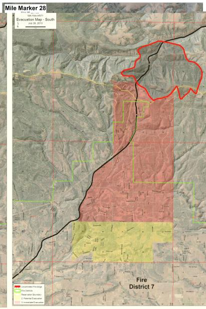Fire map of Mile Marker #28 Fire. Courtesy of inciweb.org