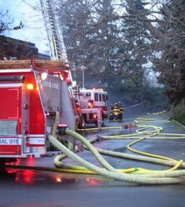 Bellevue Fire working at another fire [Photo Credit: LR Swenson]