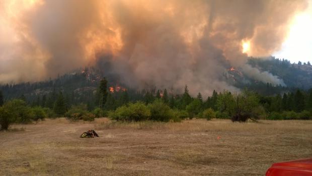 Central Peak burning on 8/5 [Photo Credit: WA IMT4]