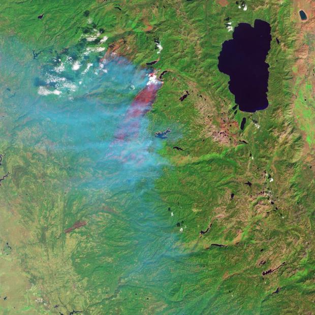 NASA Image of the King Fire [Photo Credit: NASA]