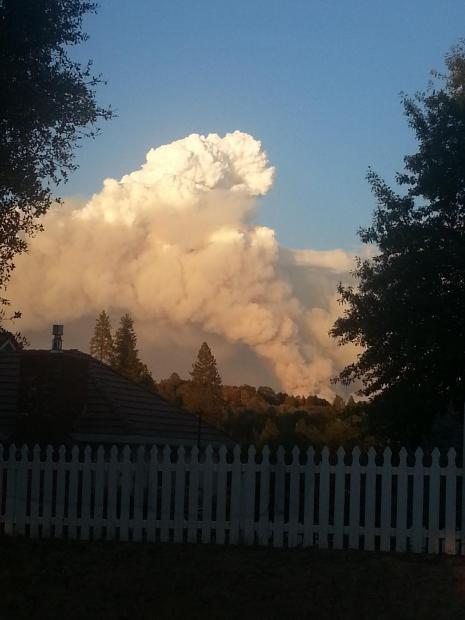 View near Placerville and Highway 49 on 9/14/14