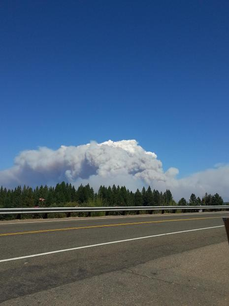 View from Hwy 50 on 9/15/14