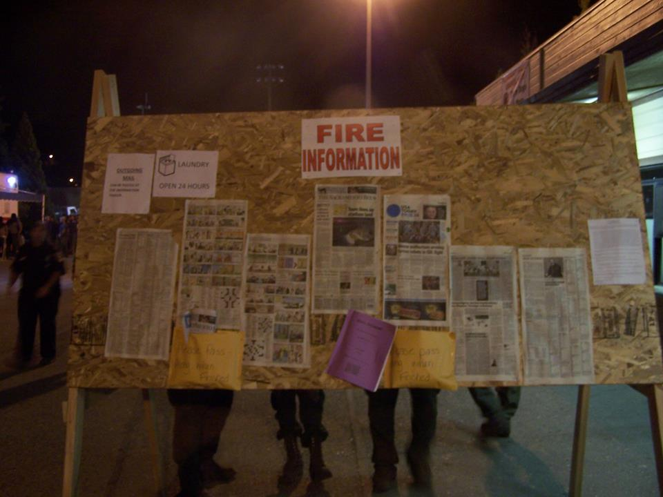 Fire Info Board [Photo Credit: King Fire IMT via Facebook]