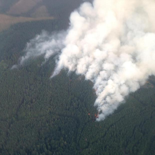 Fire Operations on 9/16/2014. [Photo Courtesy: inciweb]