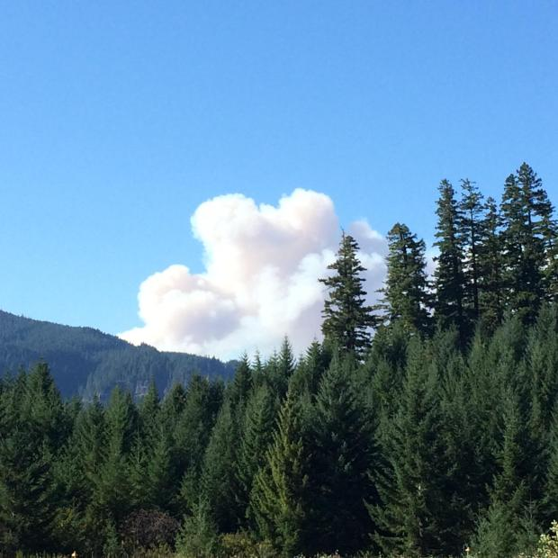 Smoke visible from Hwy 224. [Photo Courtesy: inciweb]