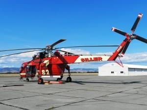 Crane used at Snag Canyon Wildfire in Ellensburg, Washington [Credit: LR Swenson]