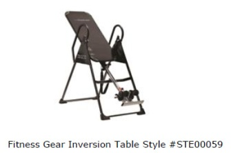 Dicks Sporting Goods Inversion Table ... Sporting Goods (NYSE: DKS) has voluntarily recalled the Fitness Gear