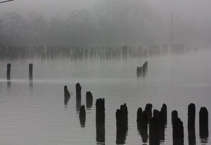 A calm river in Hoquiam in 2012. [Credit: LR Swenson]