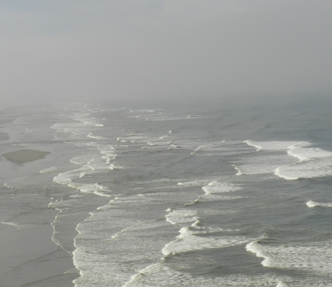 Waves can be highly dangerous flooding, eroding beaches. [Credit: LR Swenson]