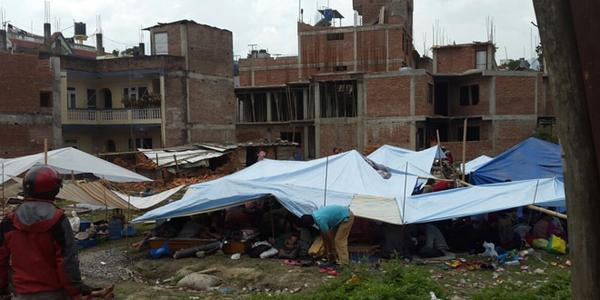 Conditions survivors are living in. [Photo Credit: World Vision USA]