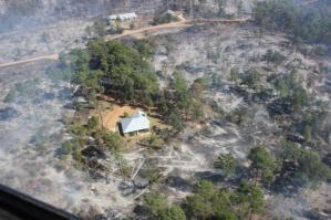 Structures are saved from the Fire. Photo Courtesy: Inciweb