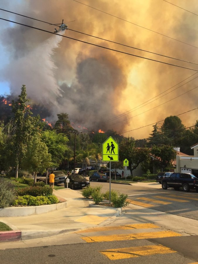Old Fire (Credit: LA Co Fire Ops)