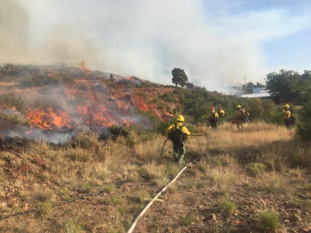 Tenderfoot Fire by BLM Phoenix Dist