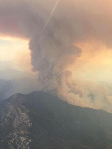 Sobereanes Fire from the Big Sur area. (Courtesy: Inciweb)