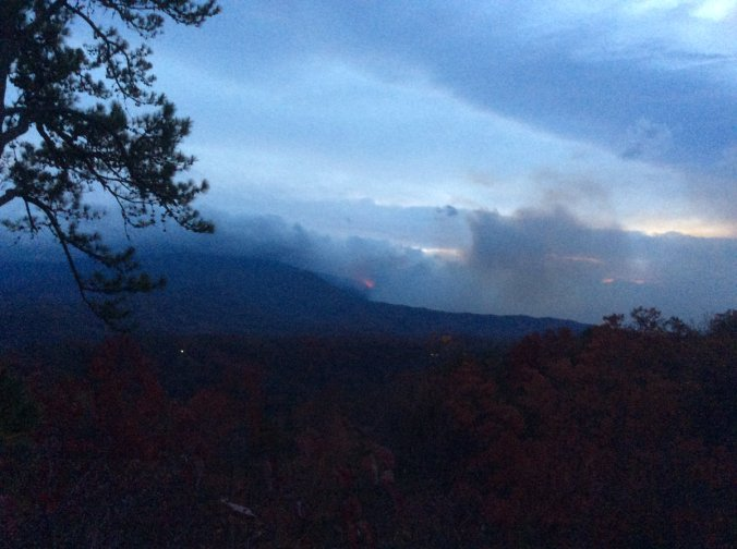 Gatlinburg Fire in the Great Smoky Mountains National Park (Credit: GSMNP)